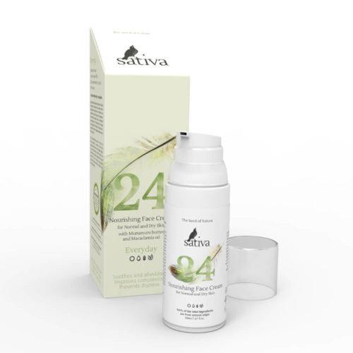 Крем для сухой кожи №24 SATIVA