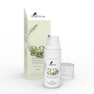 Крем для жирного чувствительного типа кожи №33 SATIVA