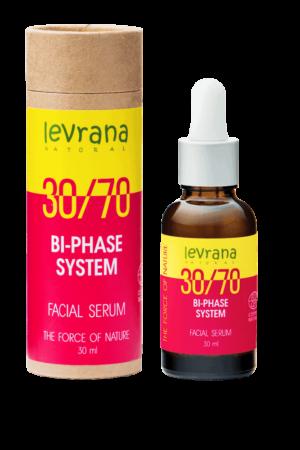 Двухфазная сыворотка для лица 30/70 с маслом дамасской розы LEVRANA