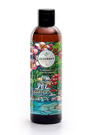 Шампунь для восстановления волос Франжипани и марианская слива ECOCRAFT