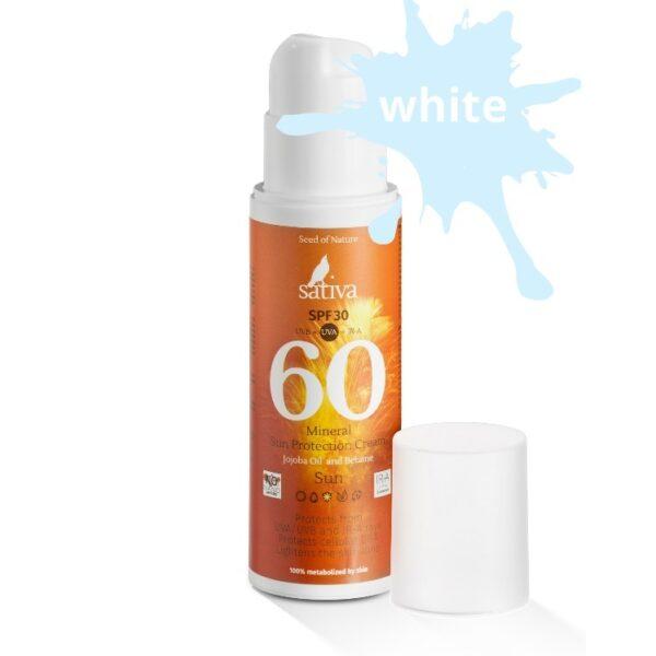 Крем минеральный солнцезащитный №60