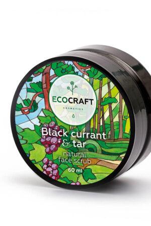 Скраб для сухой и чувствительной кожи лица Черная смородина и смола ECOCRAFT