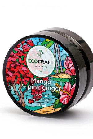 Маска для лица для мгновенного сияния кожи Манго и розовый имбирь ECOCRAFT