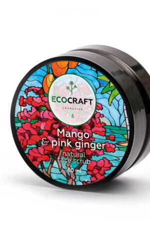 Скраб для нормальной кожи лица Манго и розовый имбирь ECOCRAFT