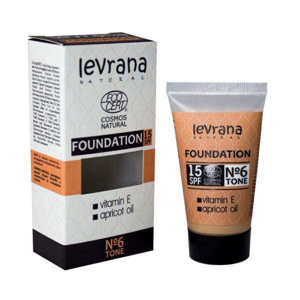 Тональный крем тон №6 LEVRANA(годен до 27.02.2021г)