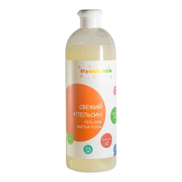 Гель для мытья полов Свежий Апельсин FRESHBUBBLE, 1 л