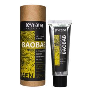 Крем для лица Баобаб, мужской LEVRANA