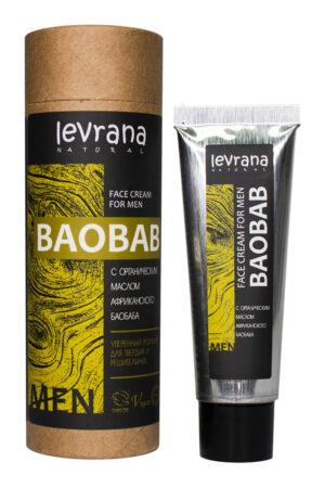 Крем для лица мужской Баобаб LEVRANA