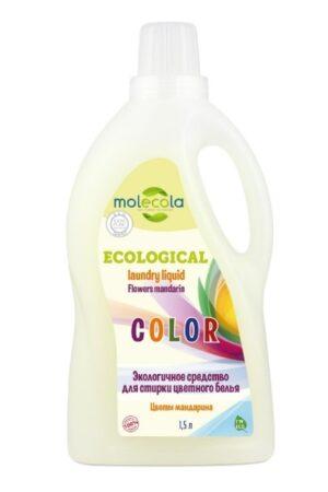 Гель для стирки цветного и линяющего белья Цветы мандарина MOLECOLA