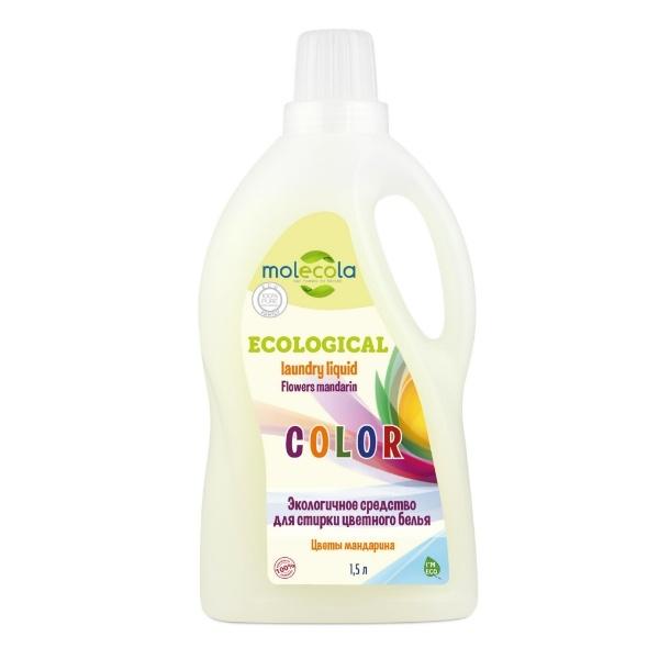 Экологичное средство для стирки цветного белья Цветы мандарина MOLECOLA