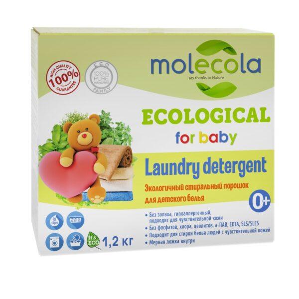 Экологичный стиральный порошок для детского белья 0+ MOLECOLA