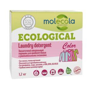 Экологичный стиральный порошок для цветного белья MOLECOLA