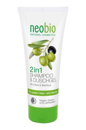 Шампунь-гель 2в1 c био-оливой и бамбуком NEOBIO