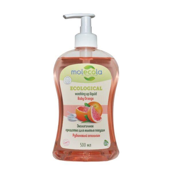 Средство для мытья посуды Рубиновый апельсин MOLECOLA