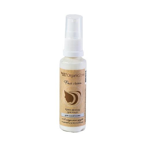 Крем-флюид для сухой и чувствительной кожи лица ORGANIC ZONE