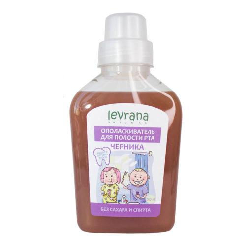 Ополаскиватель для полости рта детский Черника LEVRANA