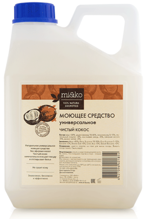 Моющее средство универсальное Чистый кокос MIKO, 4л