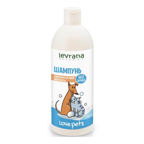 Шампунь для собак и кошек всех пород без аромата LEVRANA