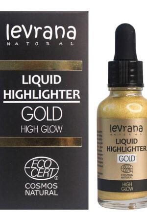 Жидкий хайлайтер High glow (золото) LEVRANA