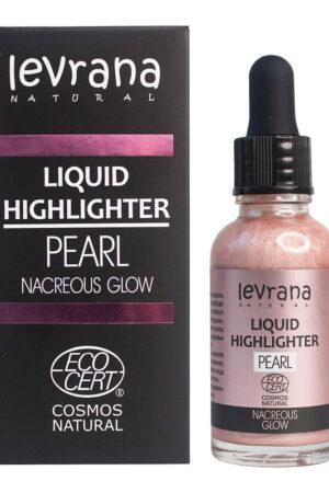 Жидкий хайлайтер Nacreous glow (розовый) LEVRANA
