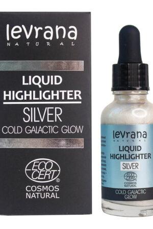 Жидкий хайлайтер Сold galactic glow (серебро) LEVRANA