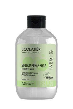Мицеллярная вода для чувствительной кожи Цветок кактуса и алоэ вера ECOLATIER