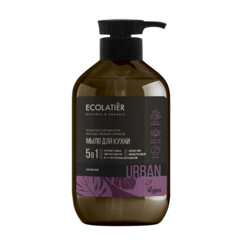 Жидкое мыло Базилик для мытья рук, посуды, овощей ECOLATIER