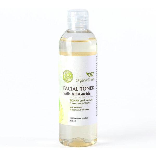 Тоник с АНА-кислотами для жирной и проблемной кожи ORGANIC ZONE