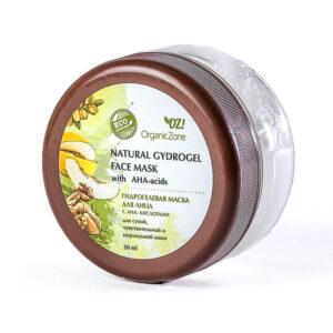 Гидрогелевая маска с АНА-кислотами для сухой, чувствительной и нормальной кожи лица ORGANIC ZONE