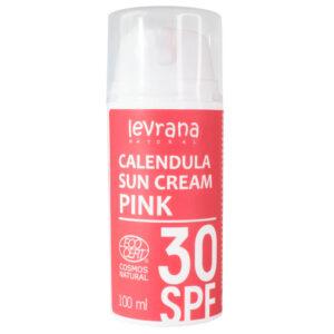 Солнцезащитный крем для тела Календула SPF 30 Pink LEVRANA, 100 мл