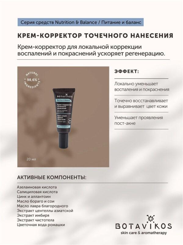 Крем-корректор точечного нанесения против локальных воспалений BOTAVIKOS