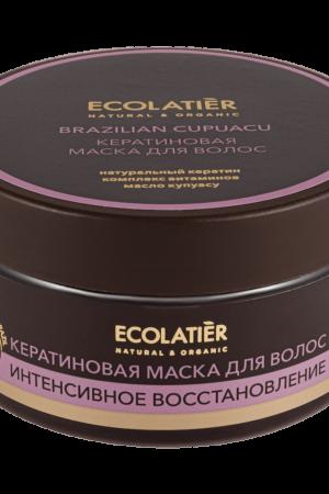 Маска для волос кератиновая интенсивное восстановление Бразильский купуасу ECOLATIER
