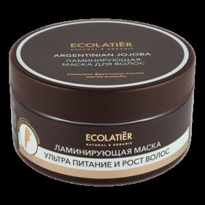 Маска для волос ламинирующая ультра-питание и рост волос Аргентинское жожоба ECOLATIER