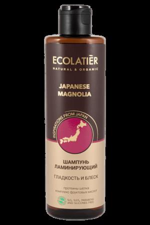 Шампунь для волос ламинирующий гладкость и блеск Японская магнолия ECOLATIER