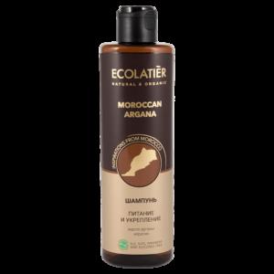 Шампунь для волос питание и укрепление Марокканская аргана ECOLATIER