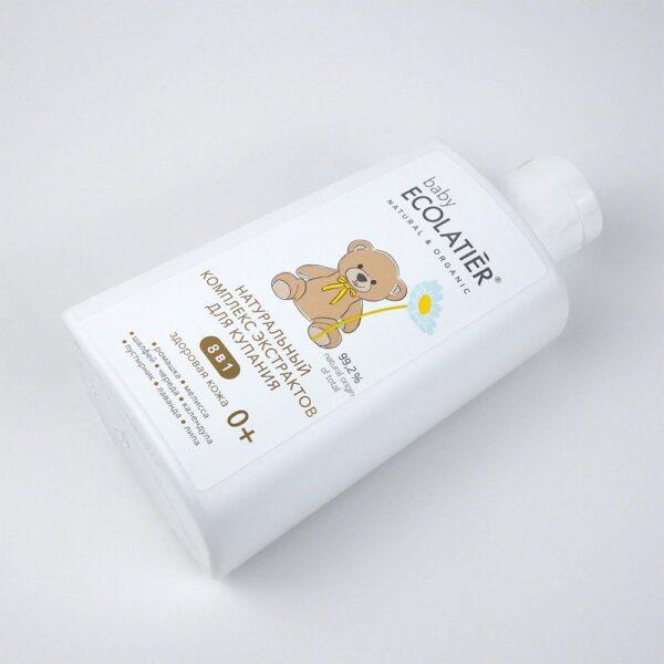 Натуральный комплекс экстрактов 8 в 1 Здоровая кожа для купания детей 0+ ECOLATIER